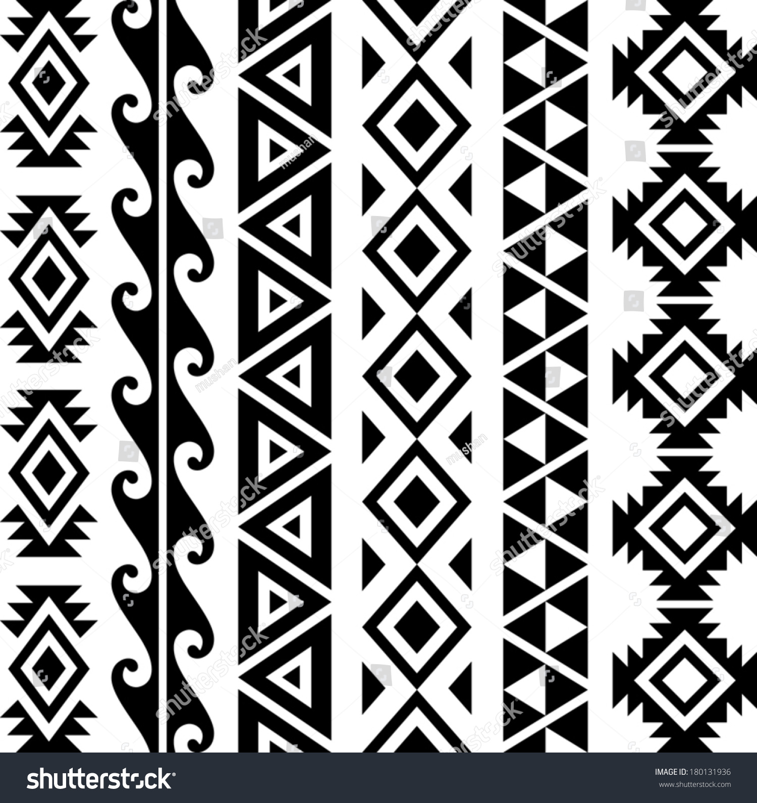 aztec tribal seamless pattern designs stock vector royalty free
