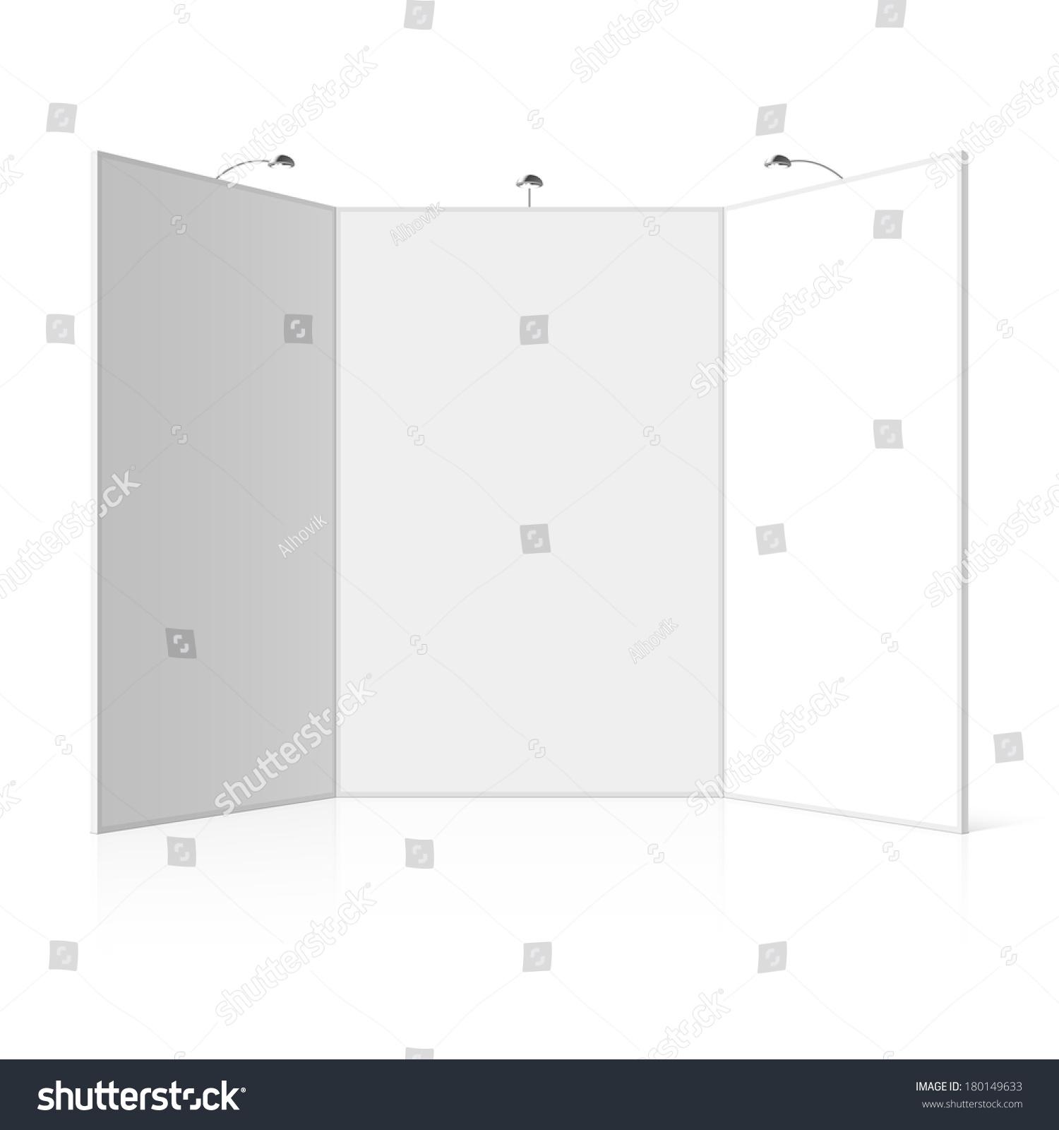 Modular Exhibition Stand Vector : Portable folding presentation display board three stock