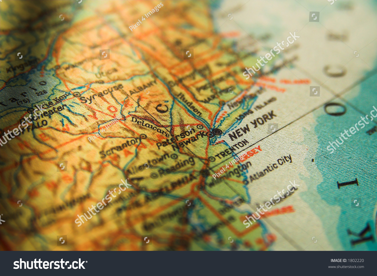 Us Map New York Focus New Stock Photo Shutterstock - New york in us map