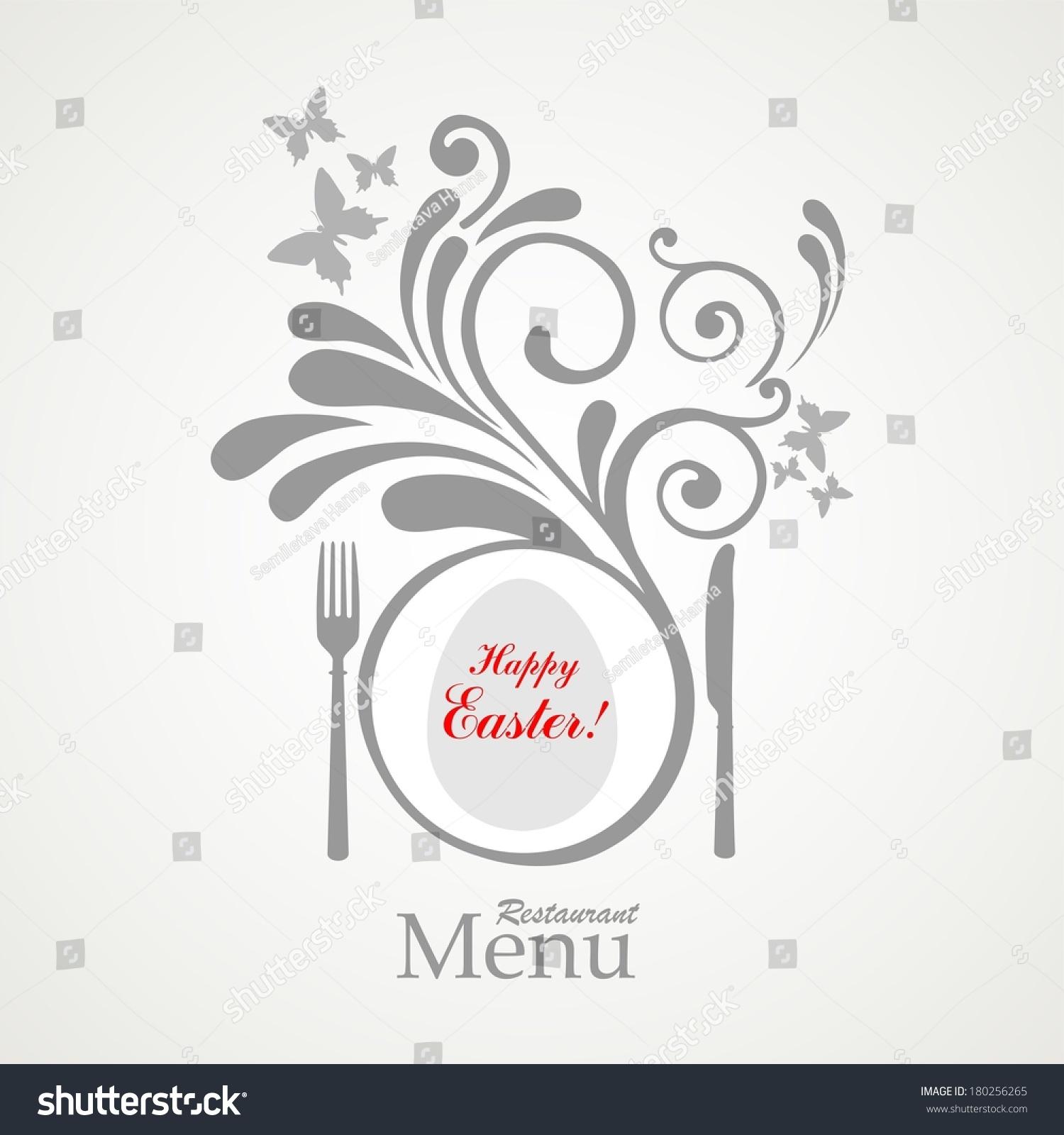easter card vintage restaurant menu design stock illustration