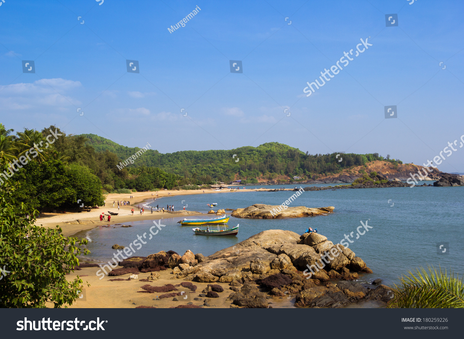 Om Beach Natural Coastline Forms Main Stock Photo 100 Legal