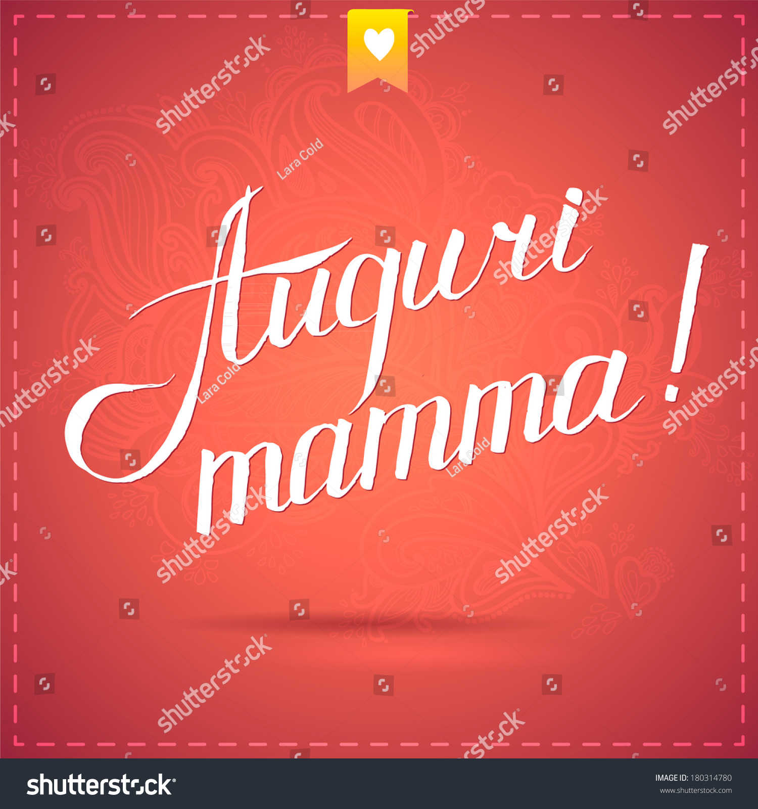 Happy Mothers Day Card Calligraphy Vector Stock Vector Royalty Free