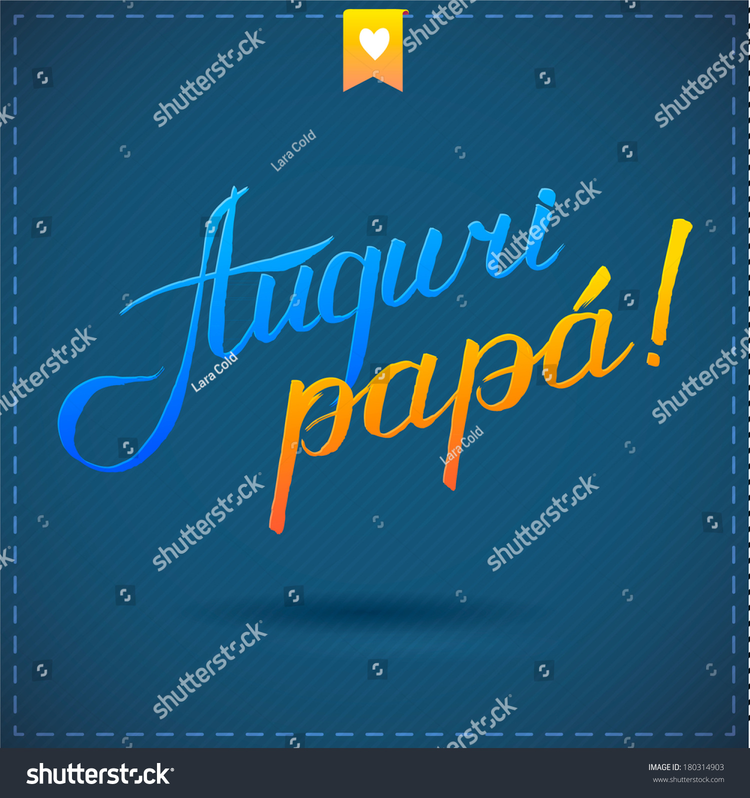 Happy Fathers Day Card Calligraphy Vector Stock Vector Royalty Free