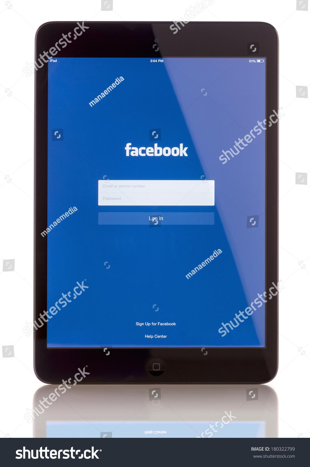 Galati romania january 23 2014 ipad mini displaying start up screen of facebook application - Application architecture ipad ...