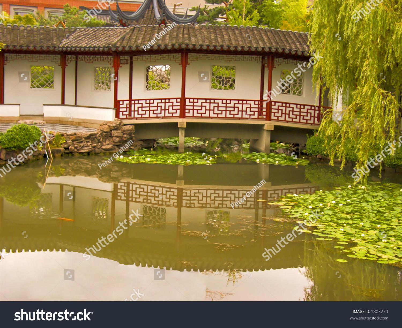 Chinese Bridge Pond Stock Photo (Royalty Free) 1803270 - Shutterstock