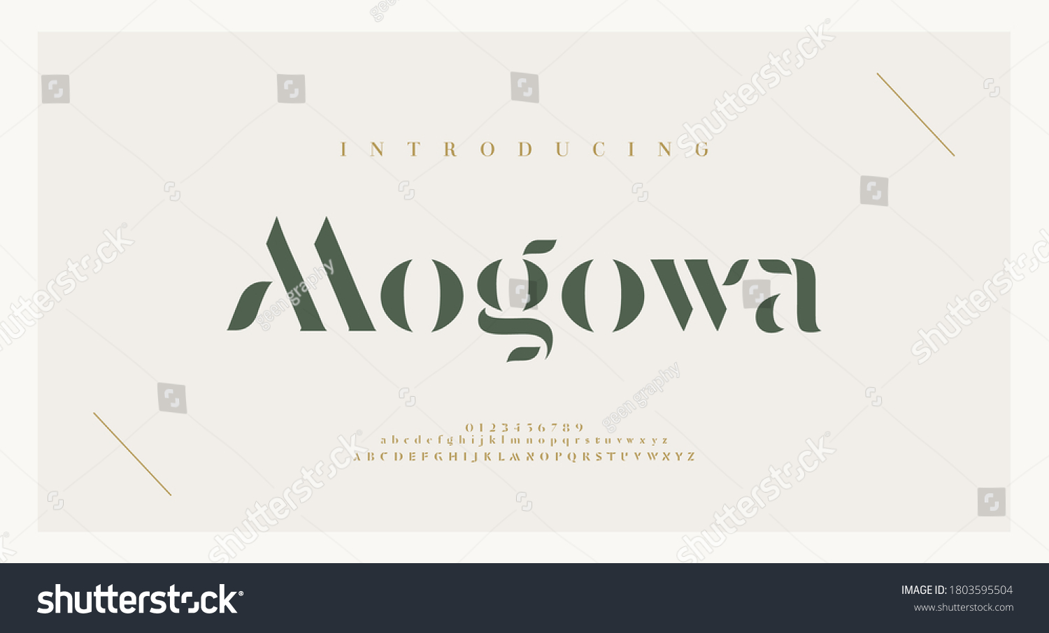 Elegant alphabet letters font and number. Classic Lettering Minimal Fashion Designs. Typography modern serif fonts and numbers. vector illustration #1803595504
