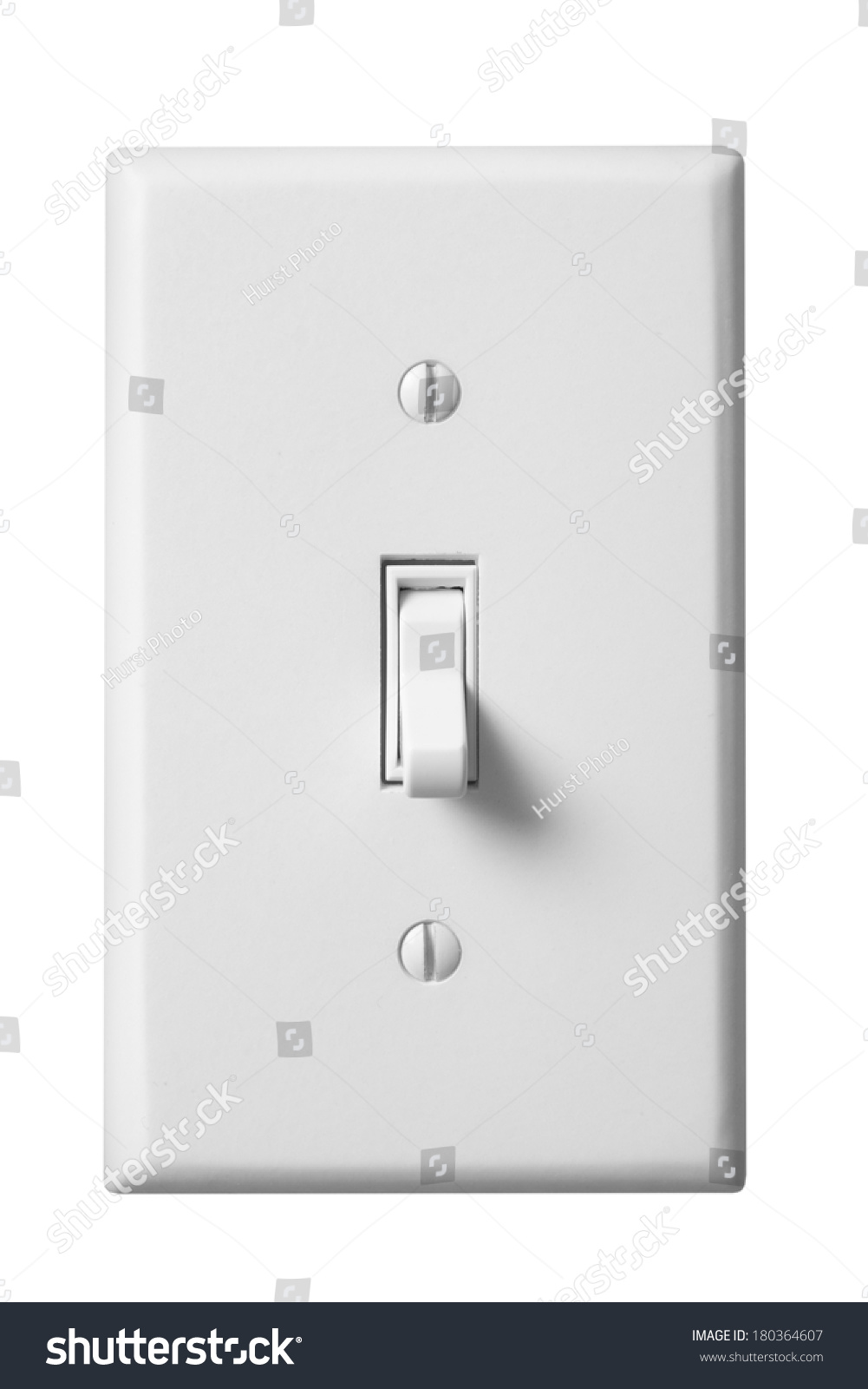 Switch Faceplate White Light Switch Faceplate On White Stock Photo 180364607