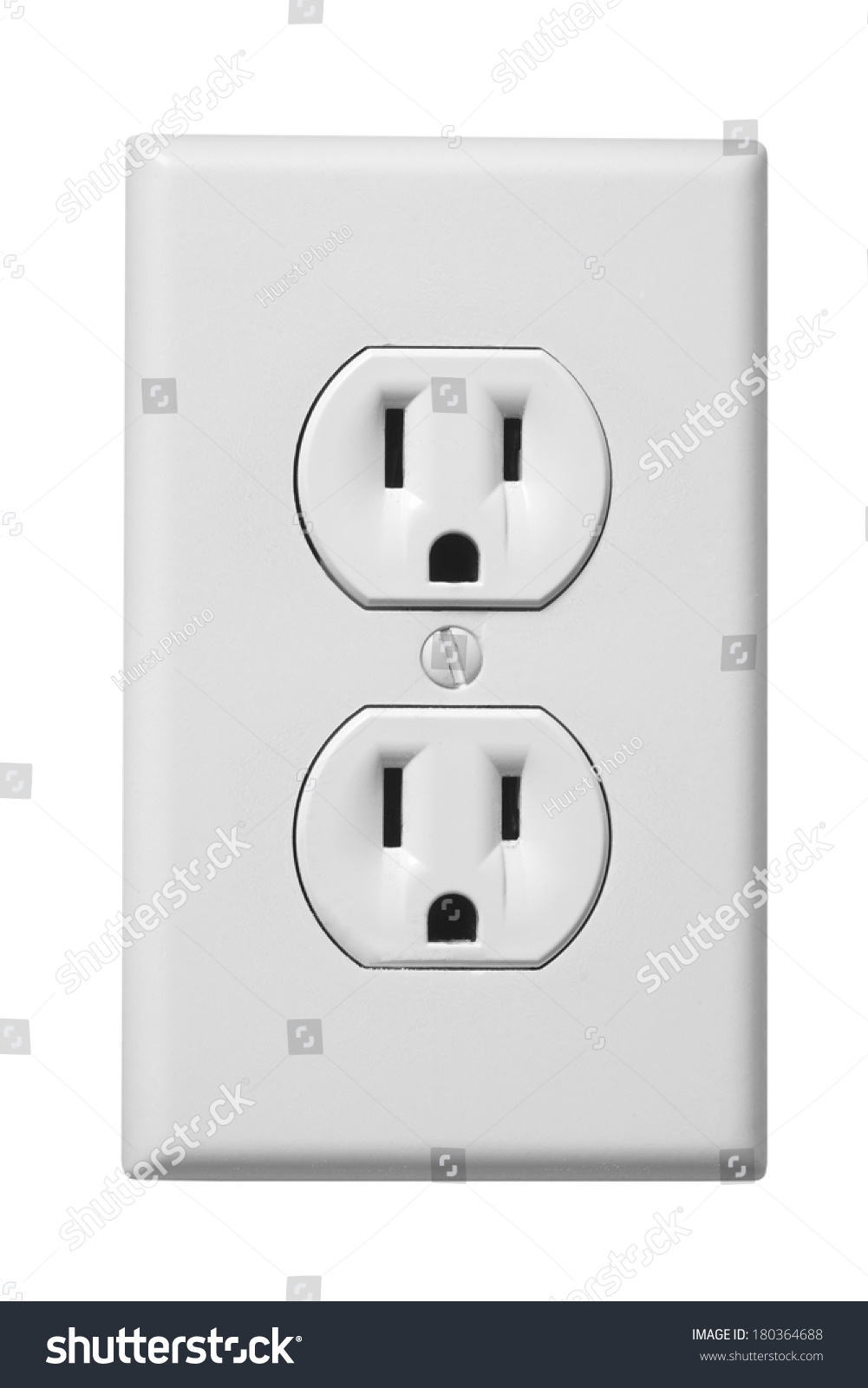 Outlet Faceplate White Electrical Outlet Faceplate On White Stock Photo 180364688