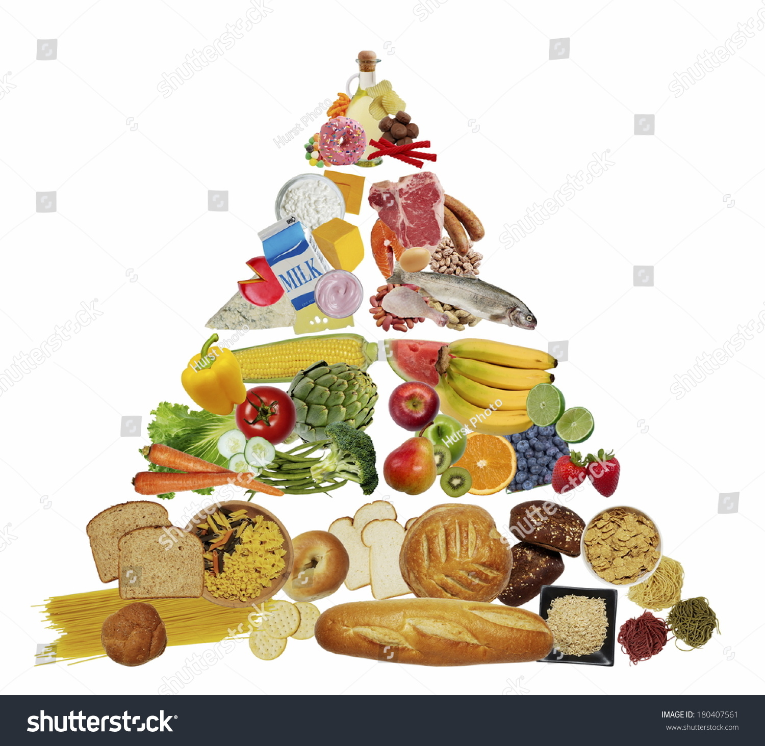 Food Pyramid Stock Photo 180407561