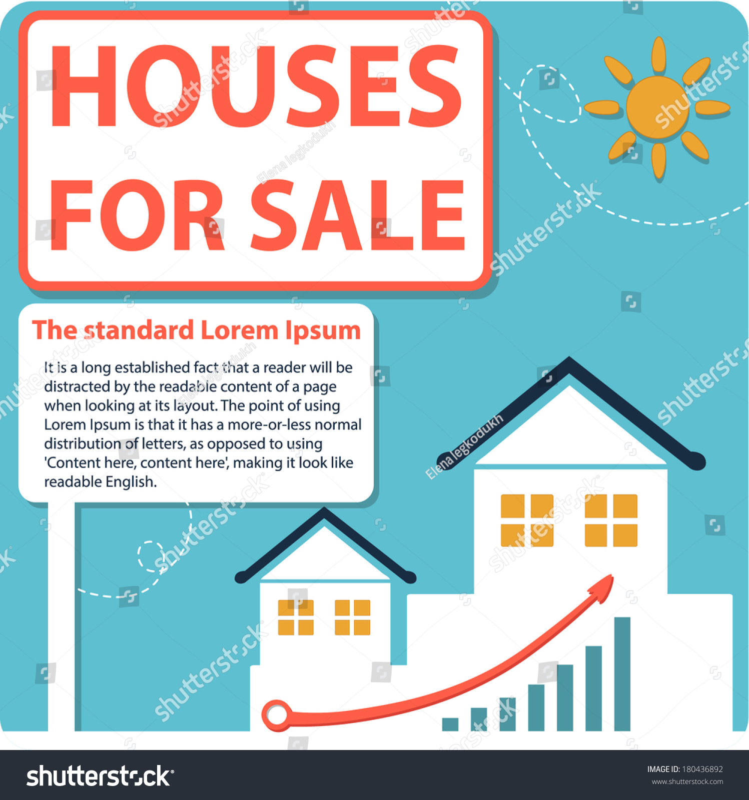 property sale rent sold open house stock vector royalty free