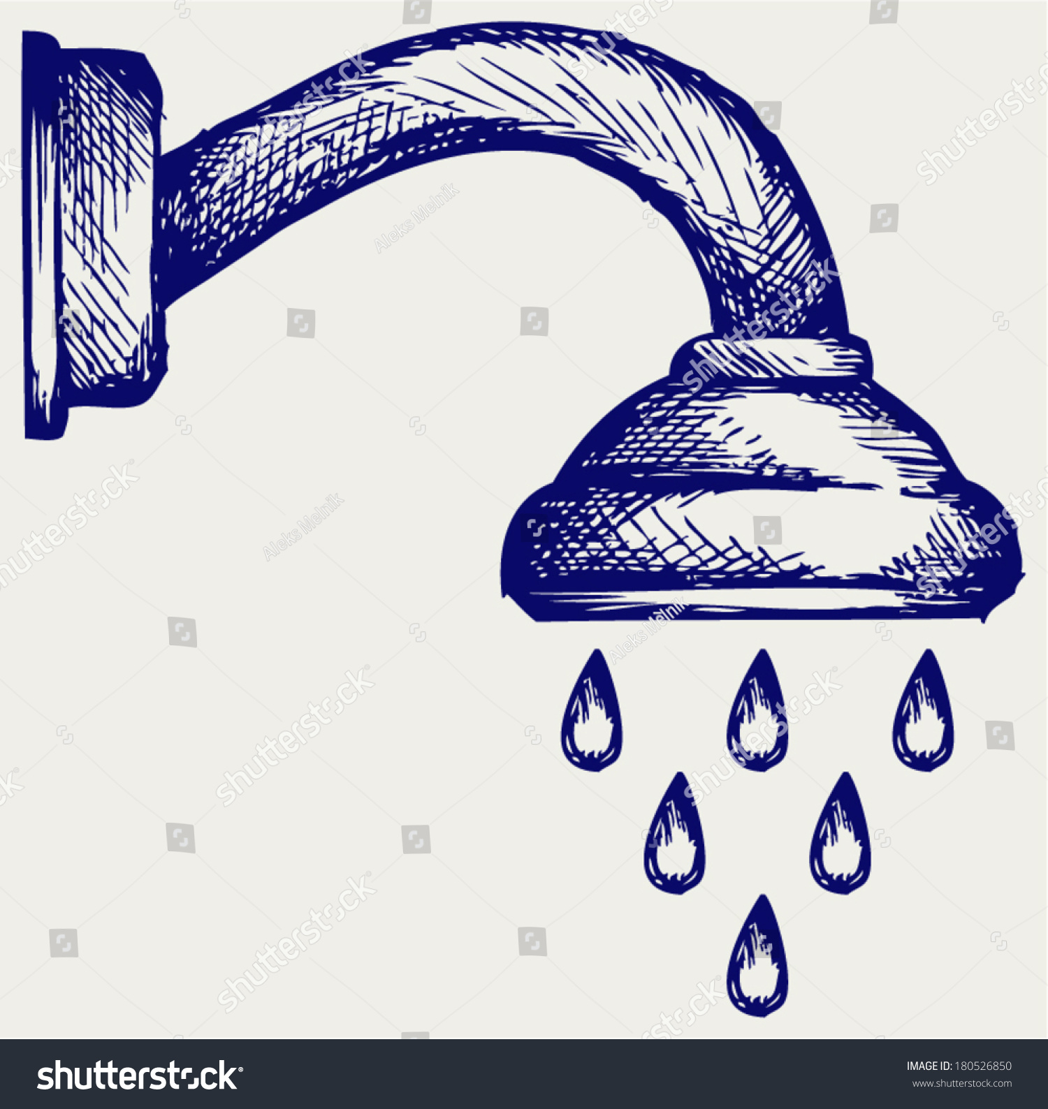 Shower Head Drawing shower head doodle style stock vector 180526850 - shutterstock