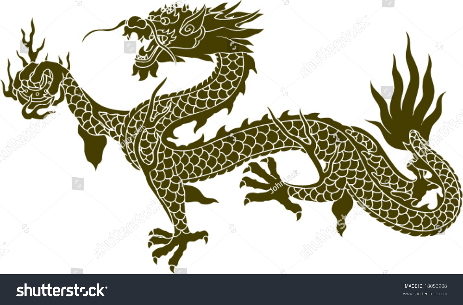 vector ancient chinese dragon pattern stock vector 18053908