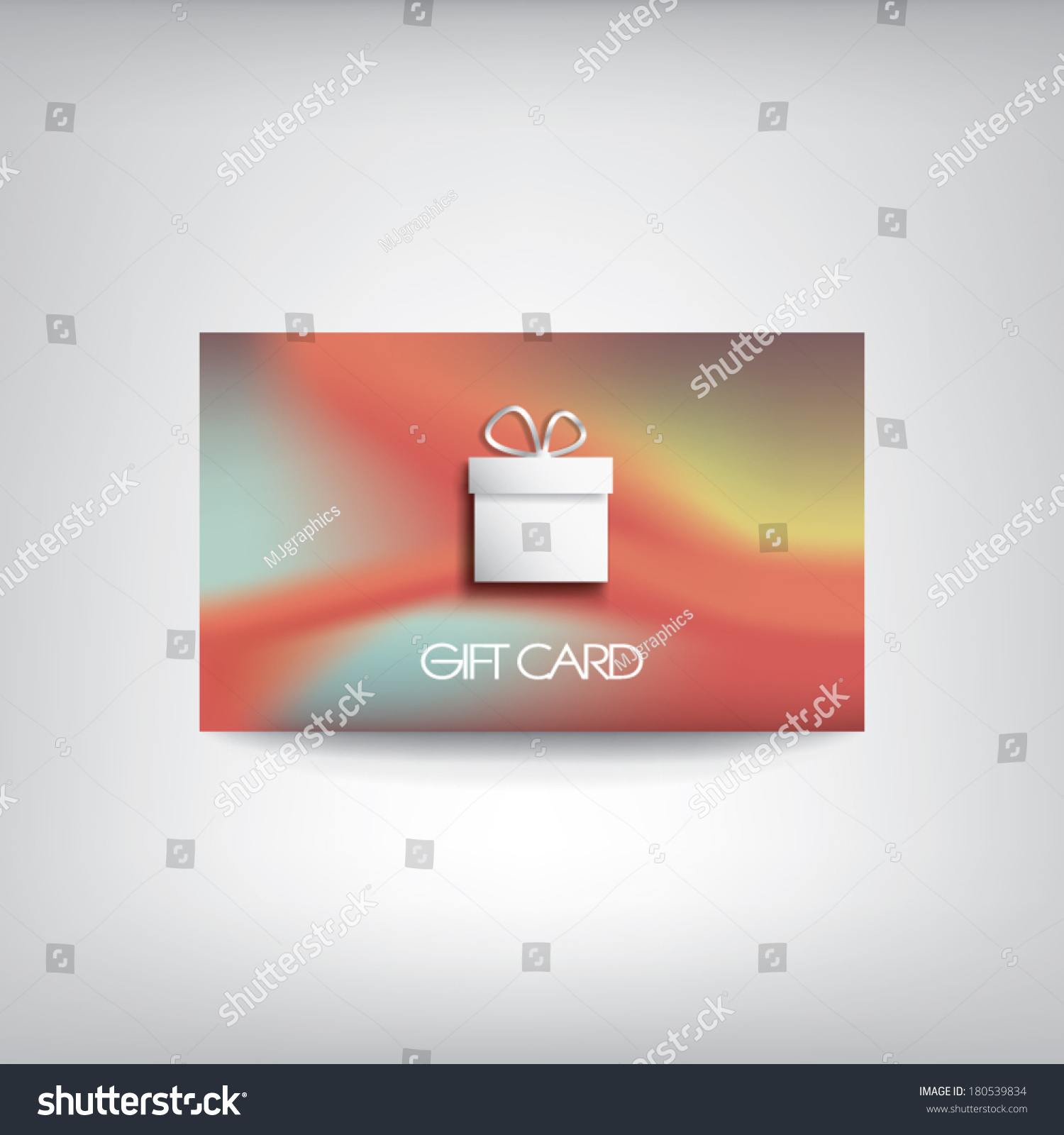 Gift Card Template Symbol Present On Stock Vector 180539834