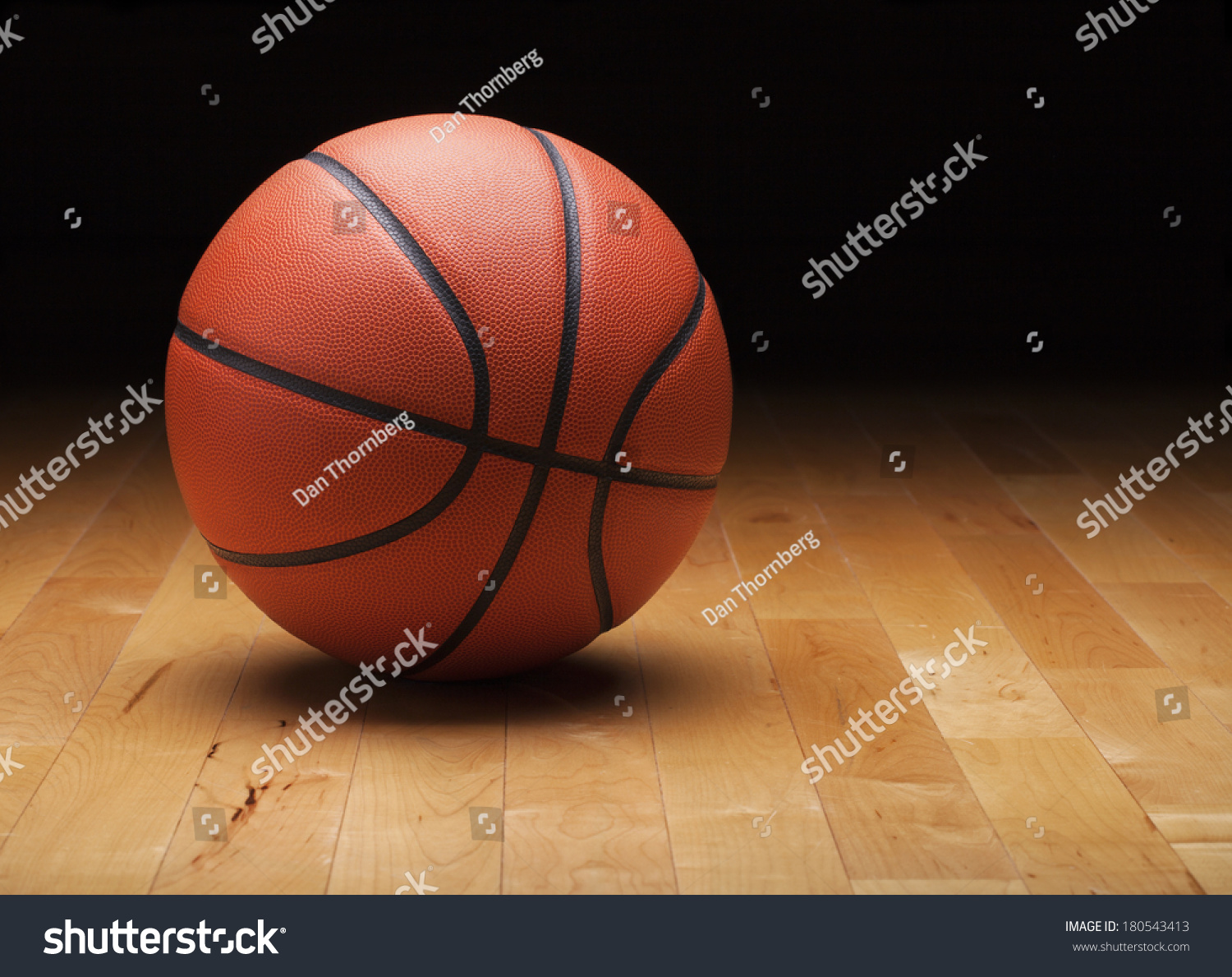 Basketball Dark Background Hardwood Gym Floor Stock Shutterstock