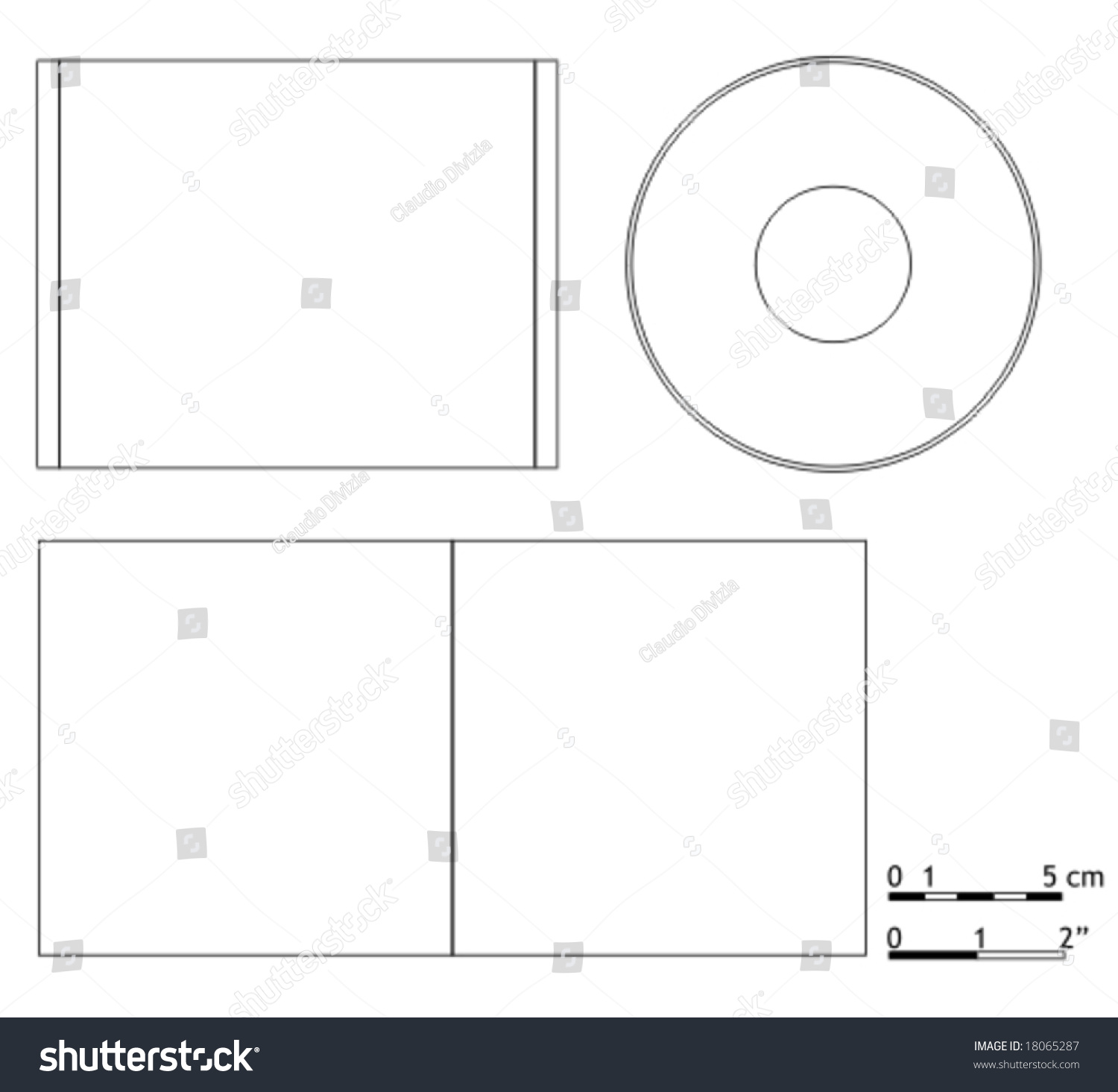Blank Cd Dvd Cover Template Vector 18065287 Shutterstock – Compact Cd Envelope Template