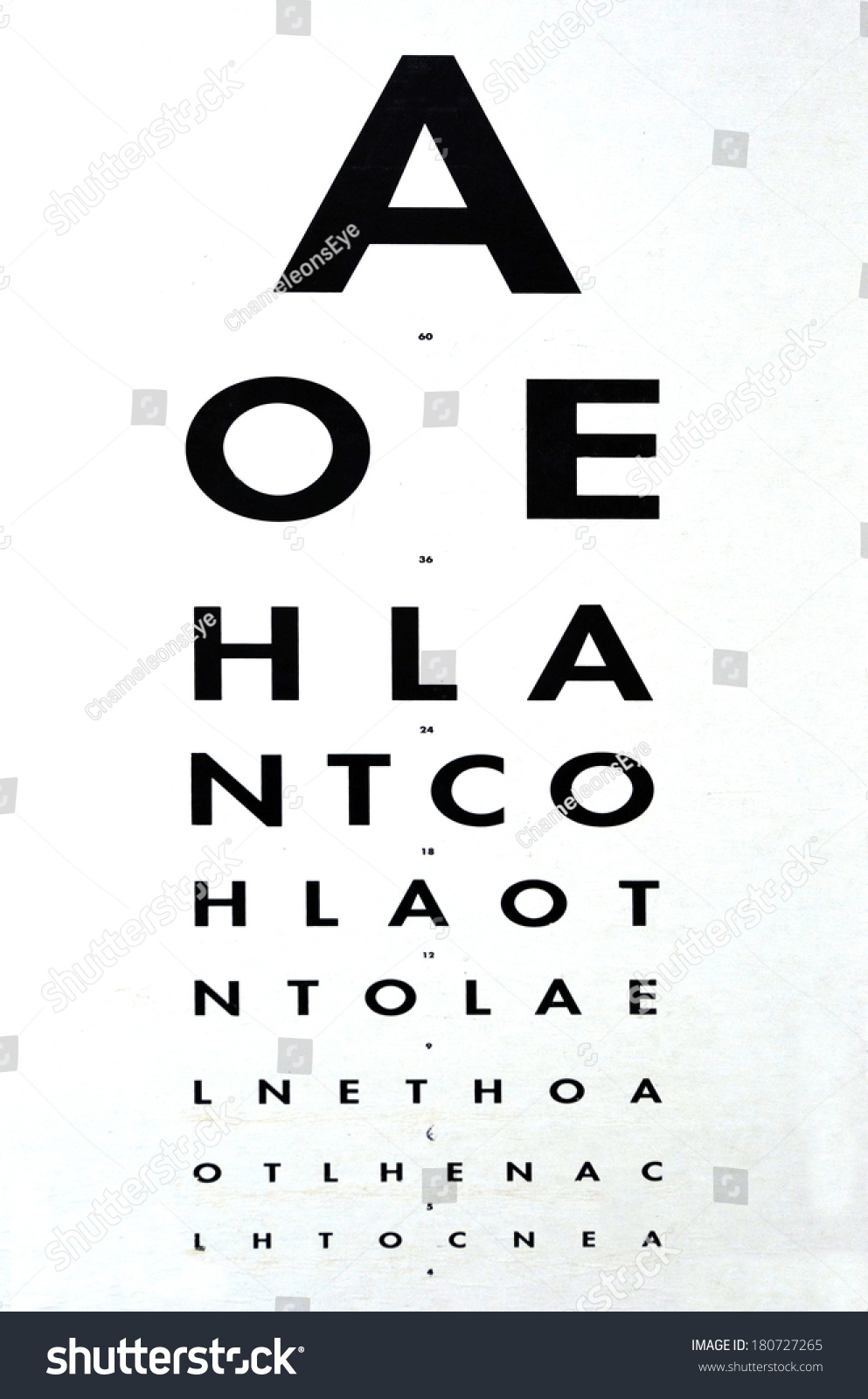 Eye Examination Traditional Snellen Chart Used Stock Photo Edit Now