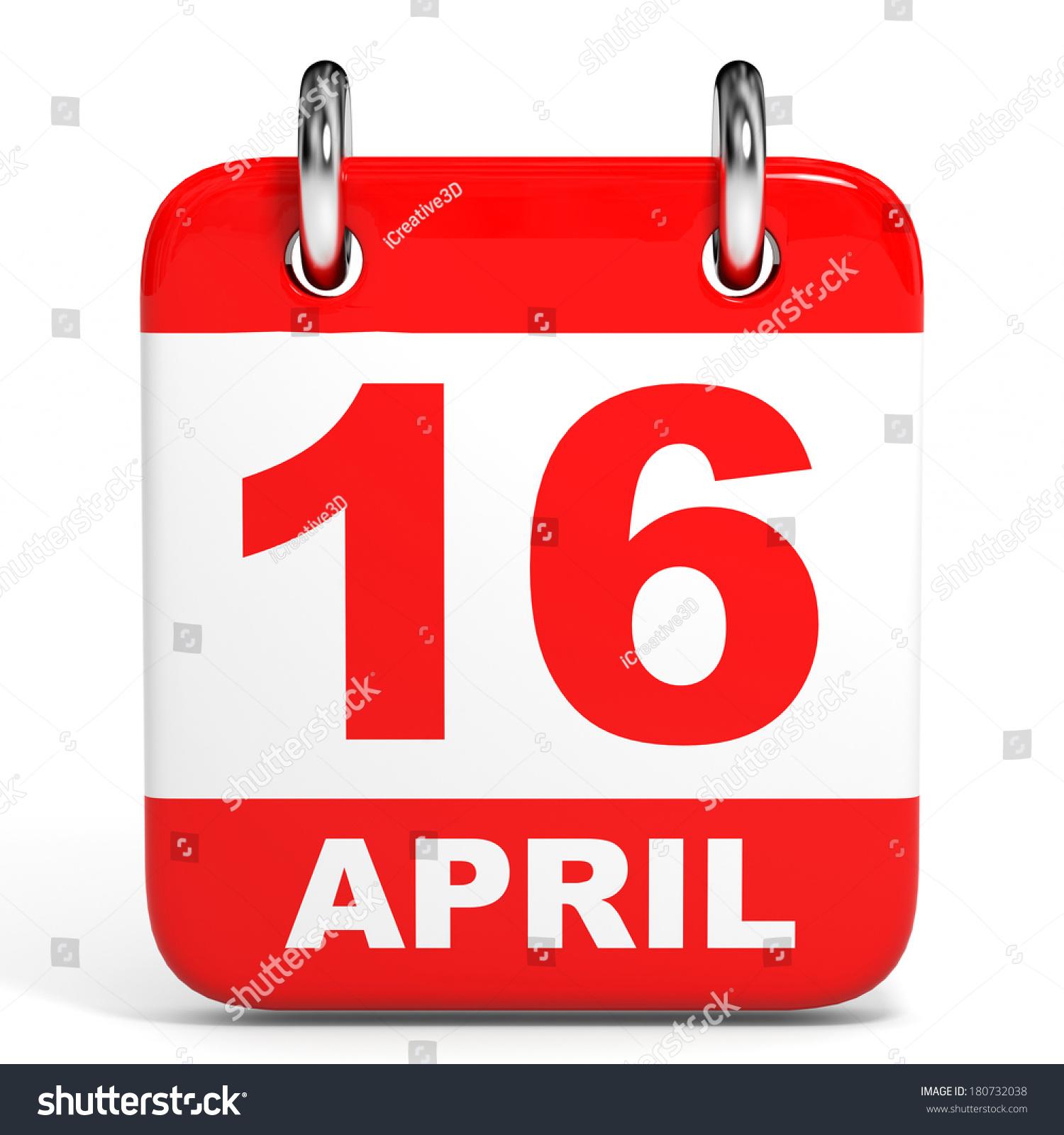 April Calendar Illustration : Calendar on white background april stock illustration