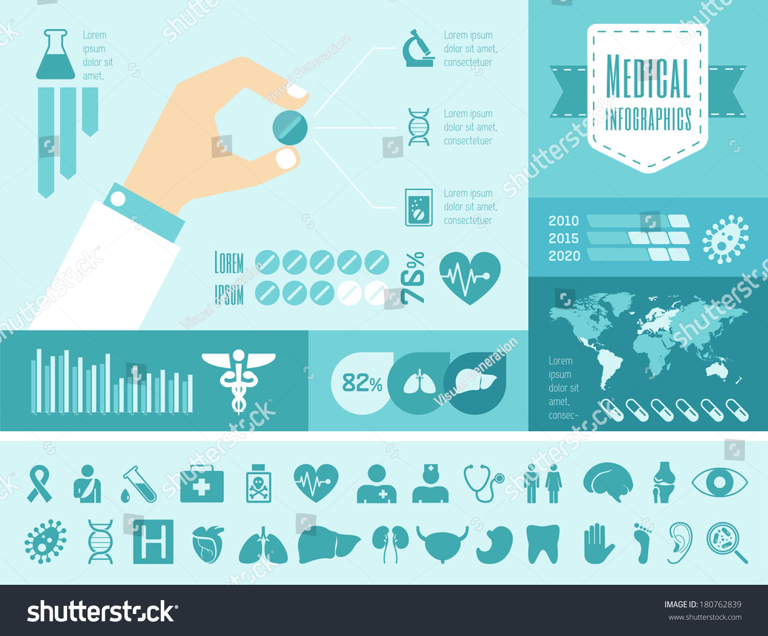 royalty free vector medical infographic presentation 180762839