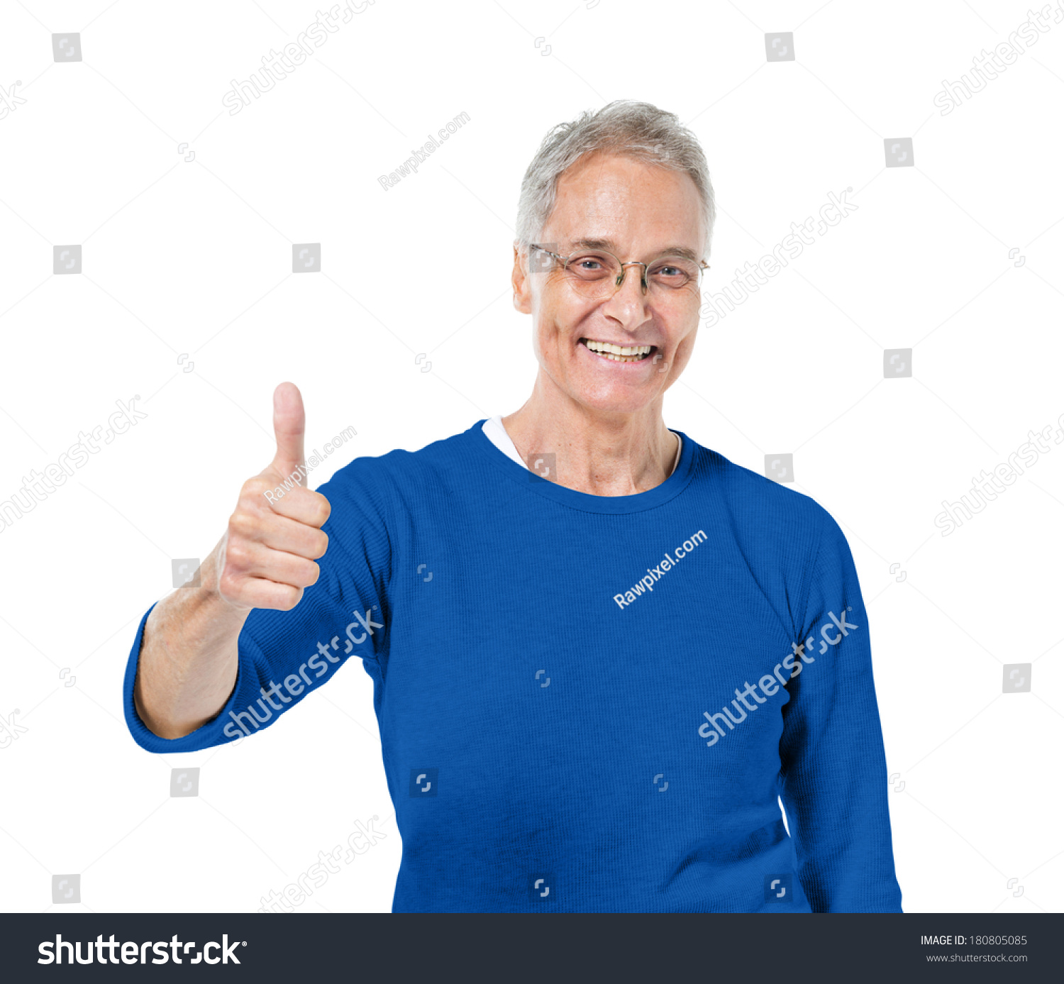 Mature Adult Man Giving Thumbs Up