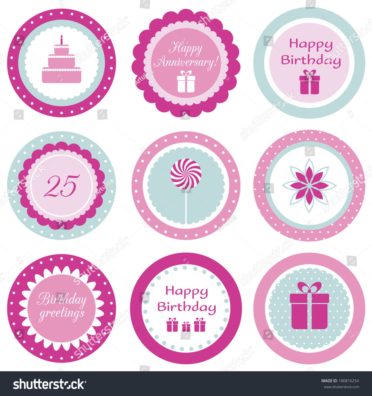 Birthday Cake Topper Clipart