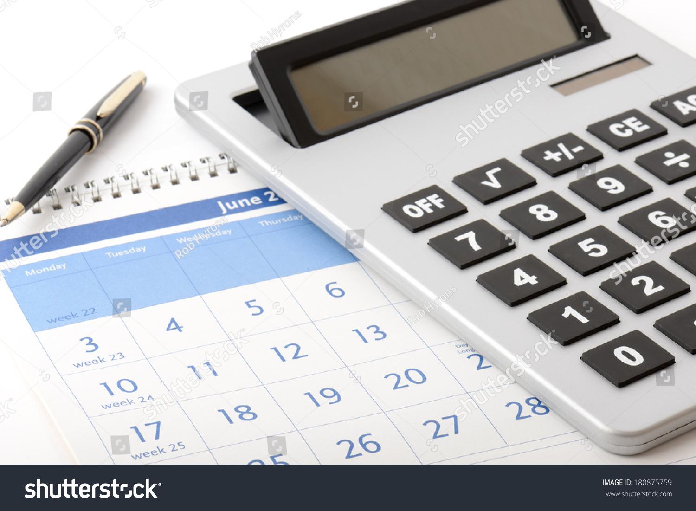 Calculator On Year Planner Stock Photo 180875759 - Shutterstock