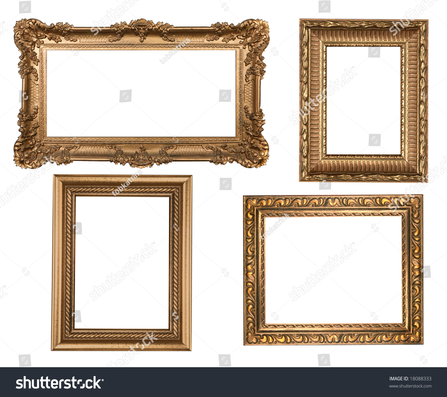 Faux Picture Frames On Walls : Decorative gold empty wall picture frames insert your own
