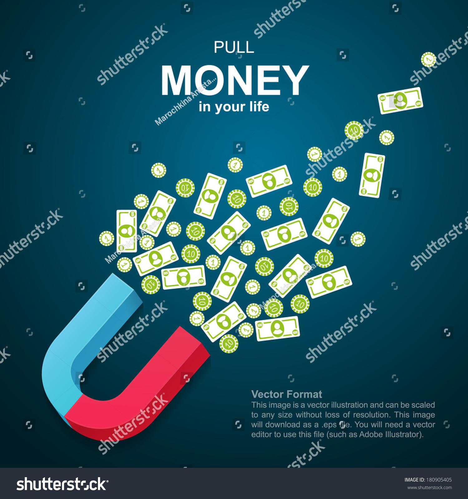 Finance Background: Financial Background Money Magnet Pulling Money Stock