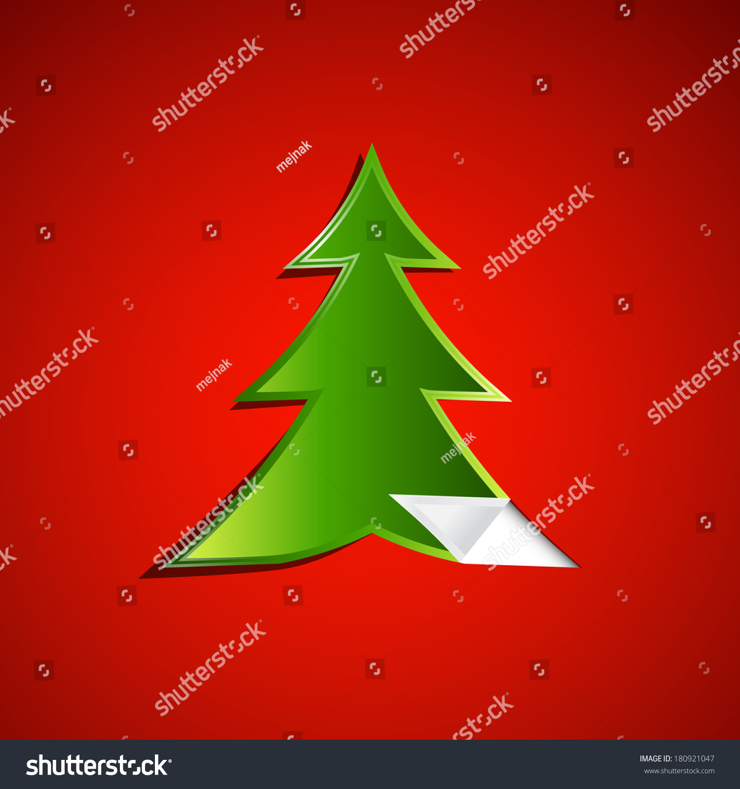 Green christmas tree on red background stock illustration for Red green christmas tree