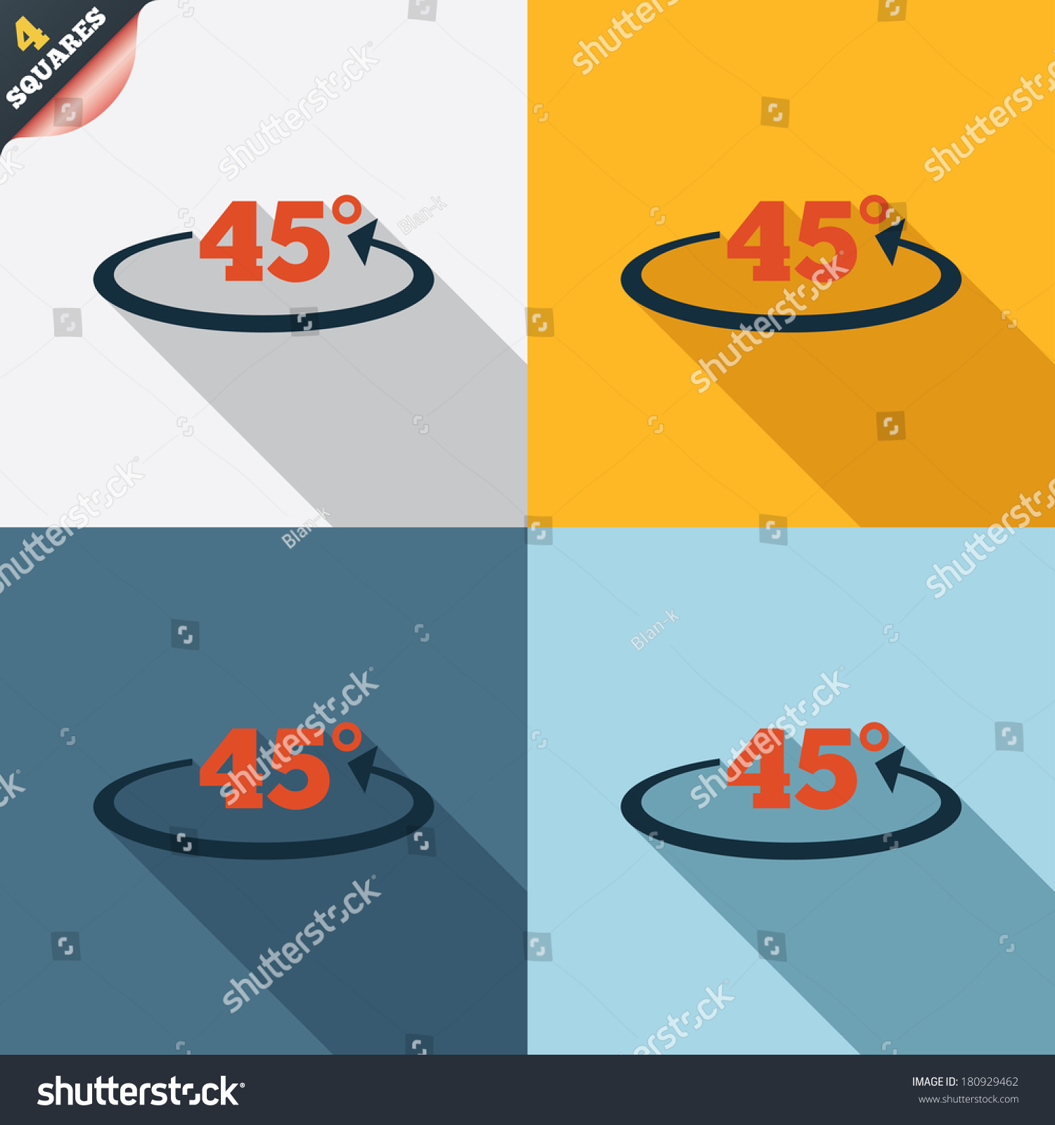 Angle 45 Degrees Sign Icon Geometry Stock Illustration 180929462 ...