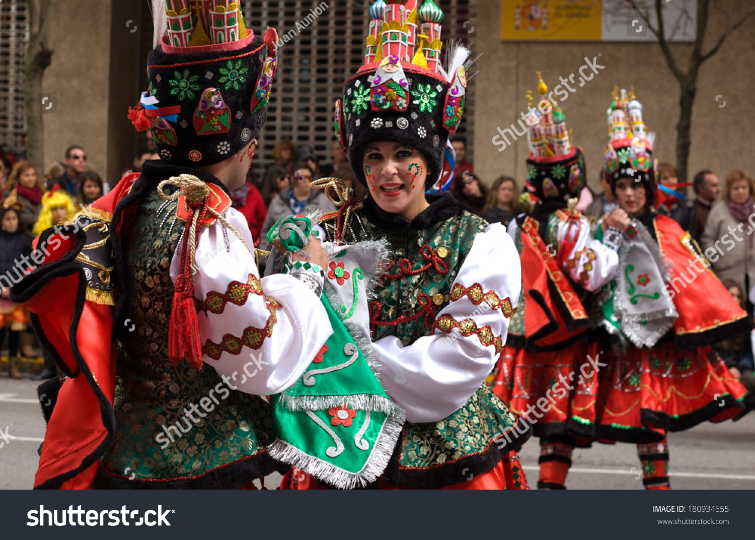 Badajoz Spain  city photos gallery : BADAJOZ, SPAIN, MARCH 2: Performers dressed up with russian folk ...