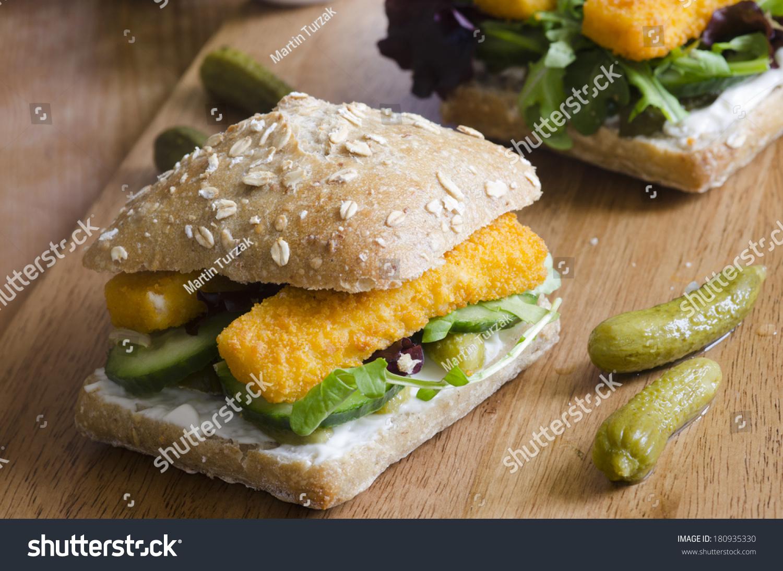 Fish finger sandwich stock photo 180935330 shutterstock for Fish stick sandwich