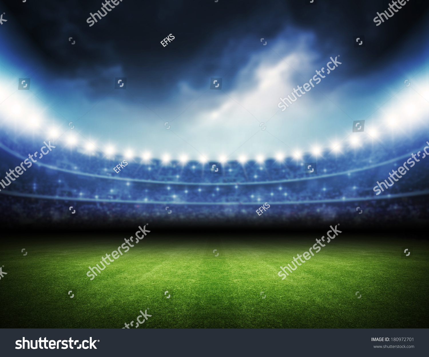 Football Stadium Night Lights: Stadium Stock Illustration 180972701