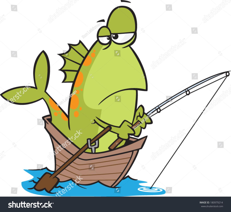 Cartoon fisherman fishing - photo#9