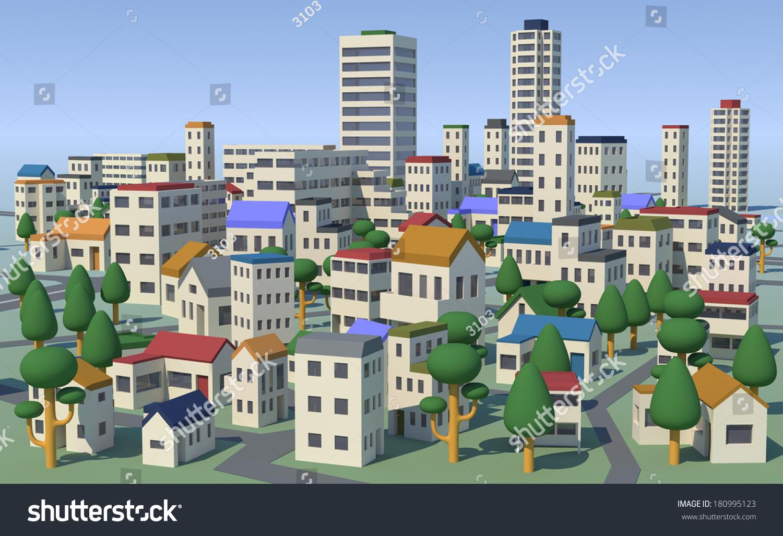 Bird house clipart free download clip art free clip art on - Urban Area Stock Illustration 180995123 Shutterstock