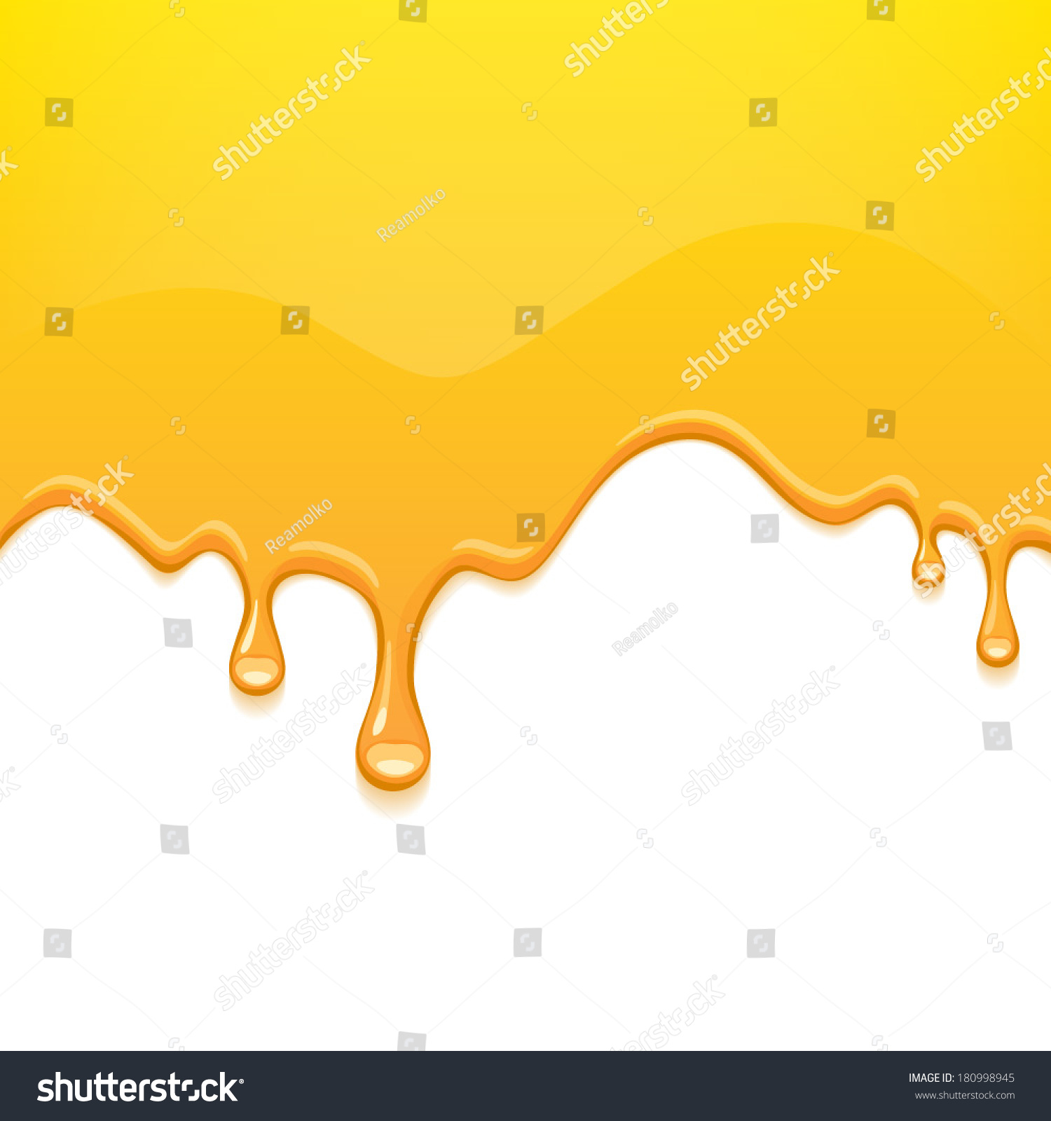 Yellow Drips On White Back Paint Stock Vector 180998945