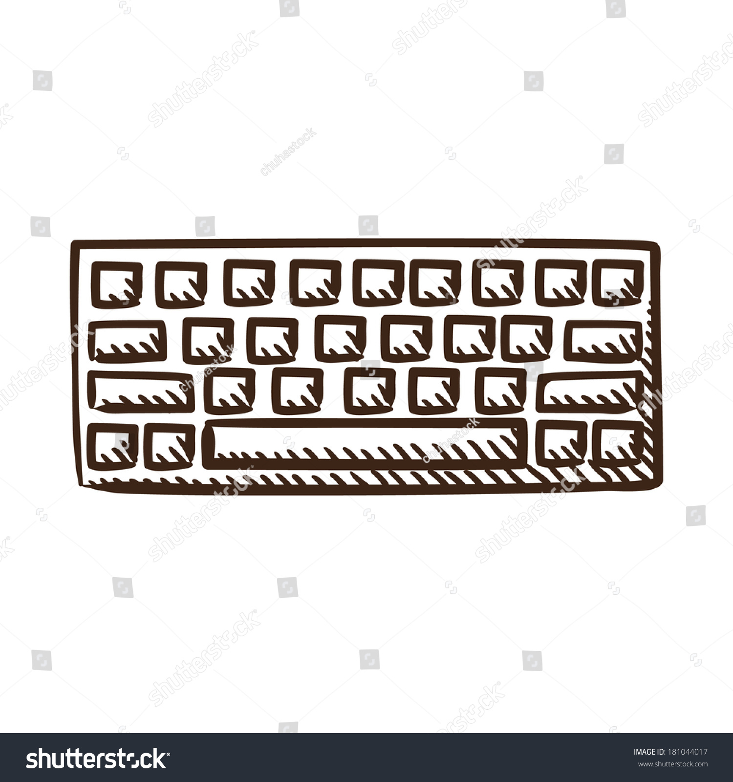 Computer keyboard symbol isolated sketch icon stock vector computer keyboard symbol isolated sketch icon pictogram eps 10 vector illustration buycottarizona Gallery