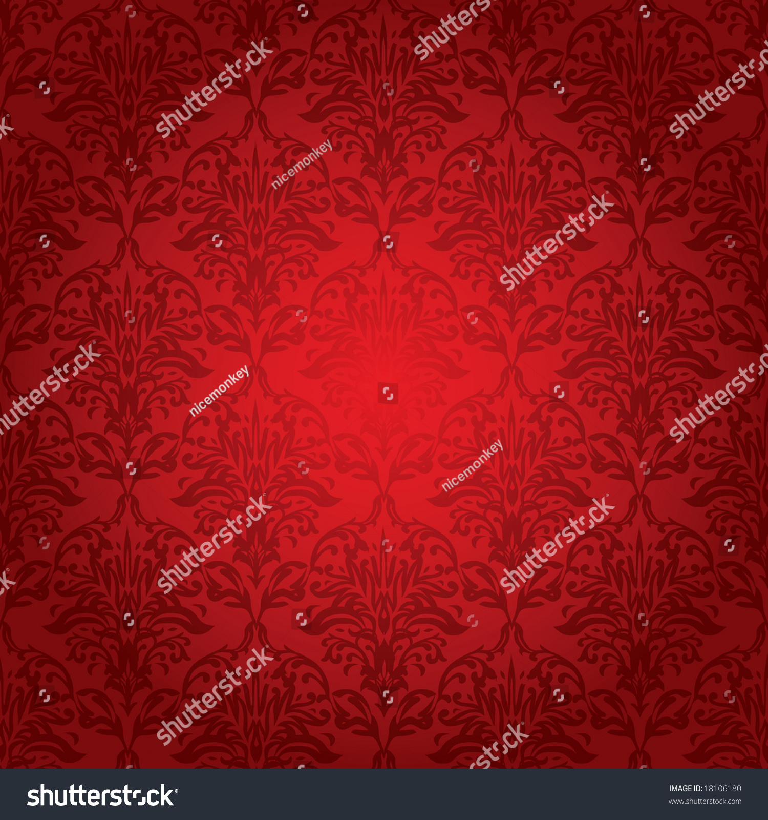 Different Shades Of Red Different Shades Red Repeating Design Makes Stock Vector 18106180