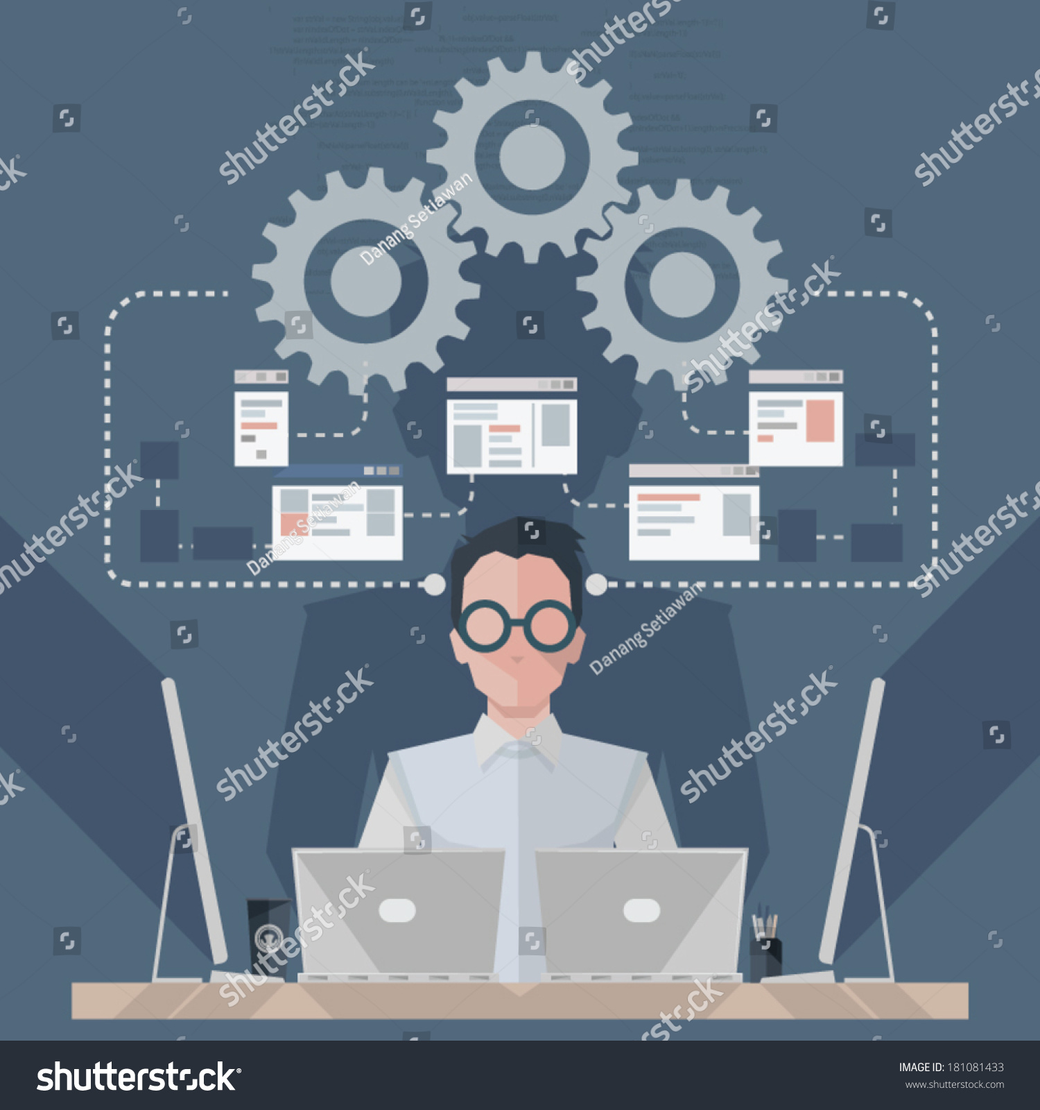 Software engineer stock vector 181081433 shutterstock Vector image software