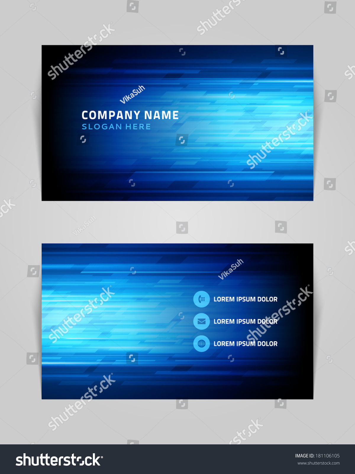 vector abstract creative business card design stock vector