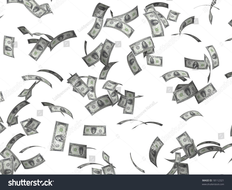 Symbol Wealth Success Rain Dollars Stock Illustration 18112321