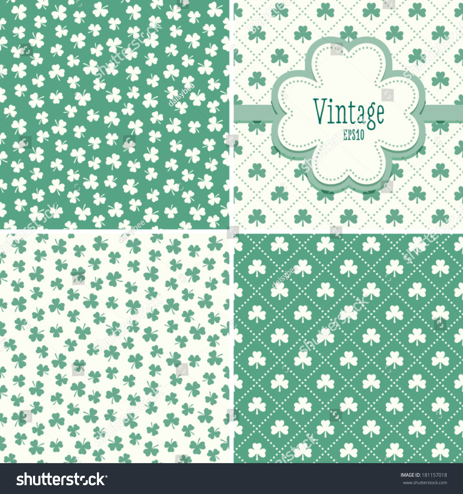 Excellent 1 Inch Circle Template Tiny 1 Round Label Template Square 1.5 Inch Hexagon Template 10 Off Coupon Template Old 12 Team Schedule Template Fresh15 Year Old Resume Template Set Mint Green Backgrounds Shamrock Clover Stock Vector 181157018 ..
