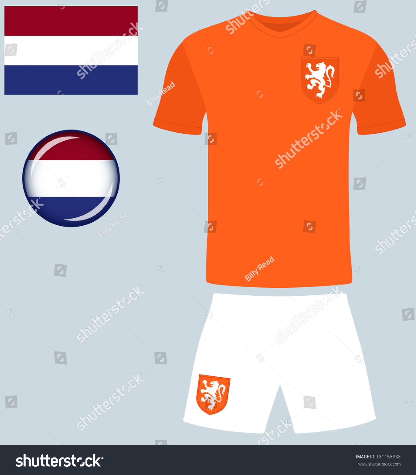 db2afee1329 Holland Football Jersey. Abstract vector image of the Netherlands Football  Team kit, along with