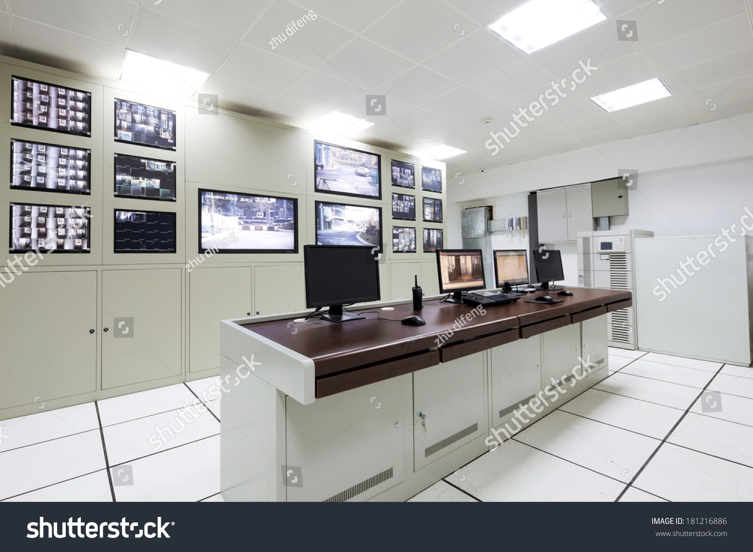Control Room Furniture Property control room modern office stock photo 181216886 - shutterstock