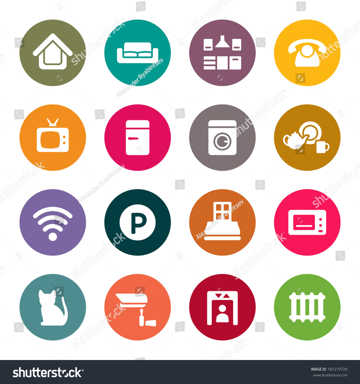home rental services home rental services icon set stock vector 181219724 492