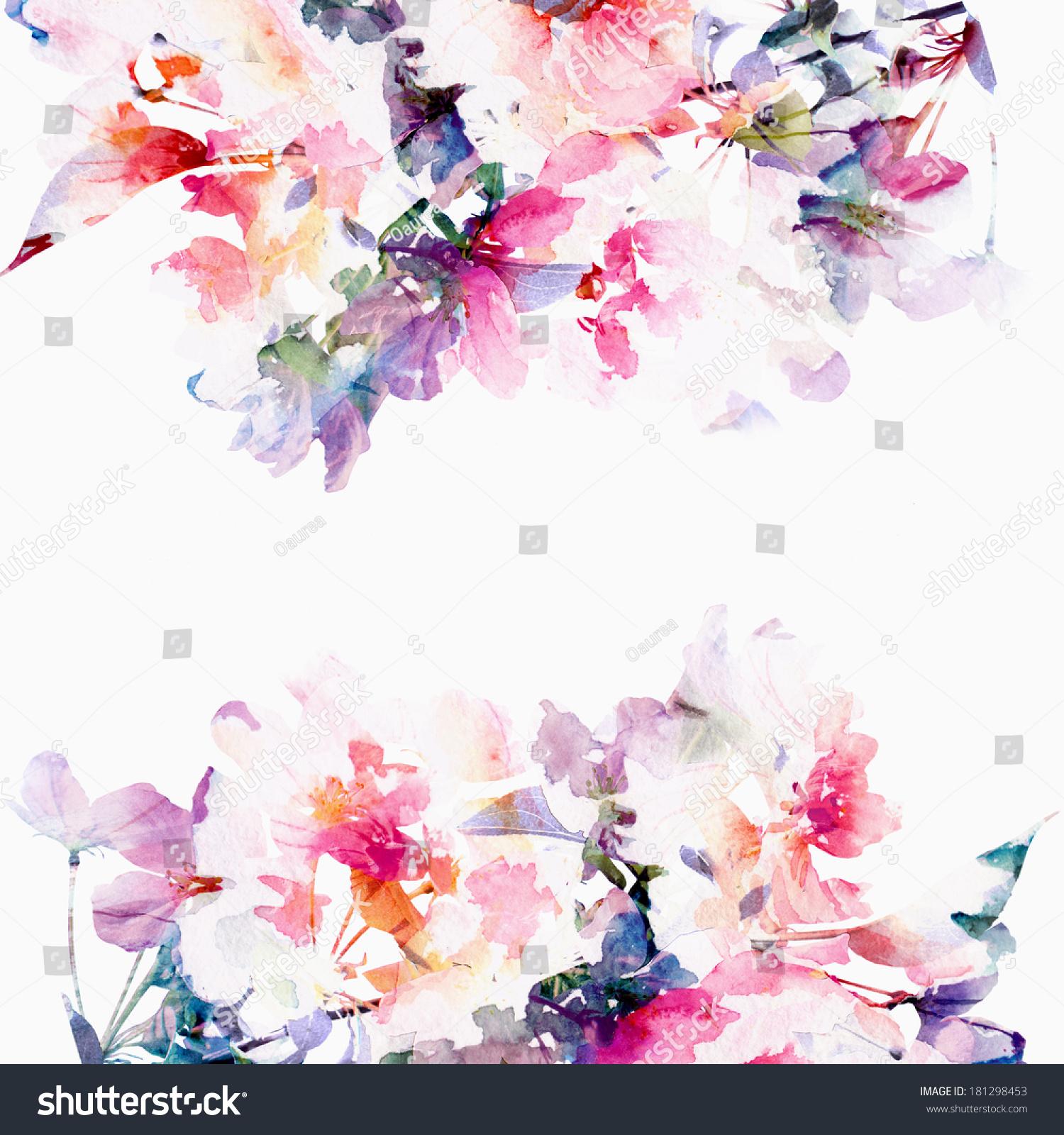 Floral Background Rose...