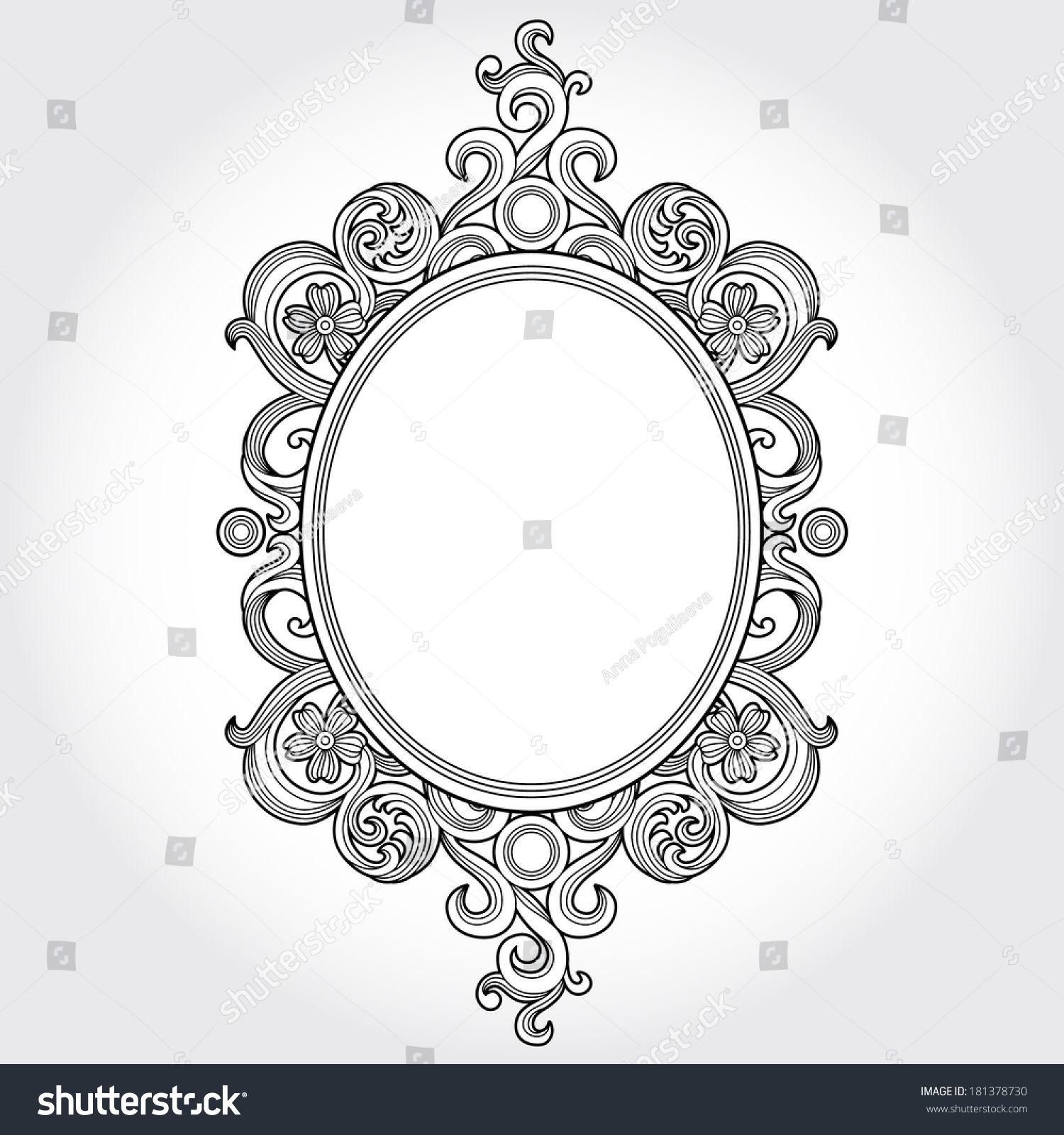 Vintage Ornate Frame Place Your Text Stock Vector 181378730 ...