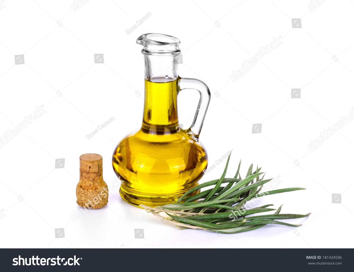 Bottle Olive Oil Isolated On White Stock Photo Edit Now