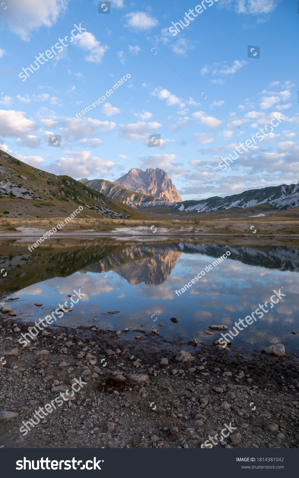land Imperator and the Gran Sasso massif Gran Sasso National Park Abruzzo Italyz #1814381042