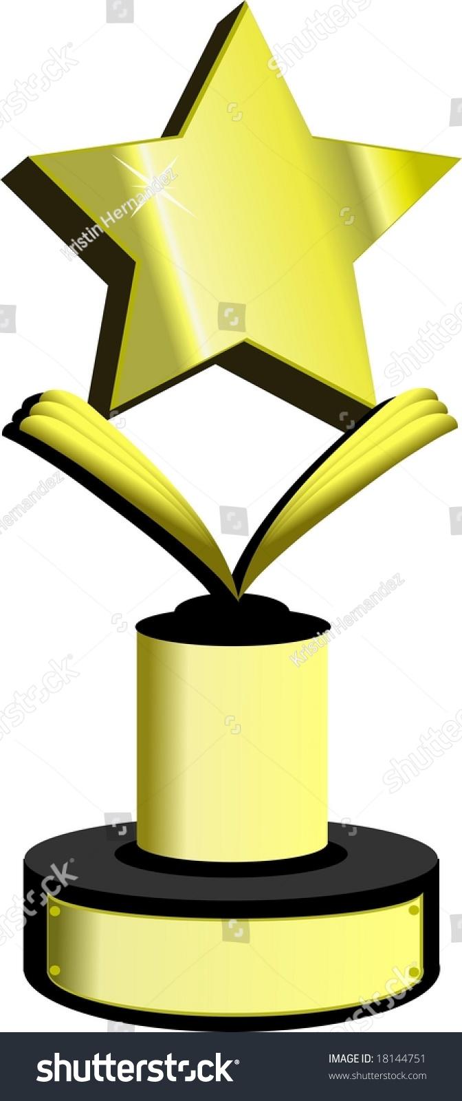 gold star award trophy stock illustration 18144751 shutterstock rh shutterstock com