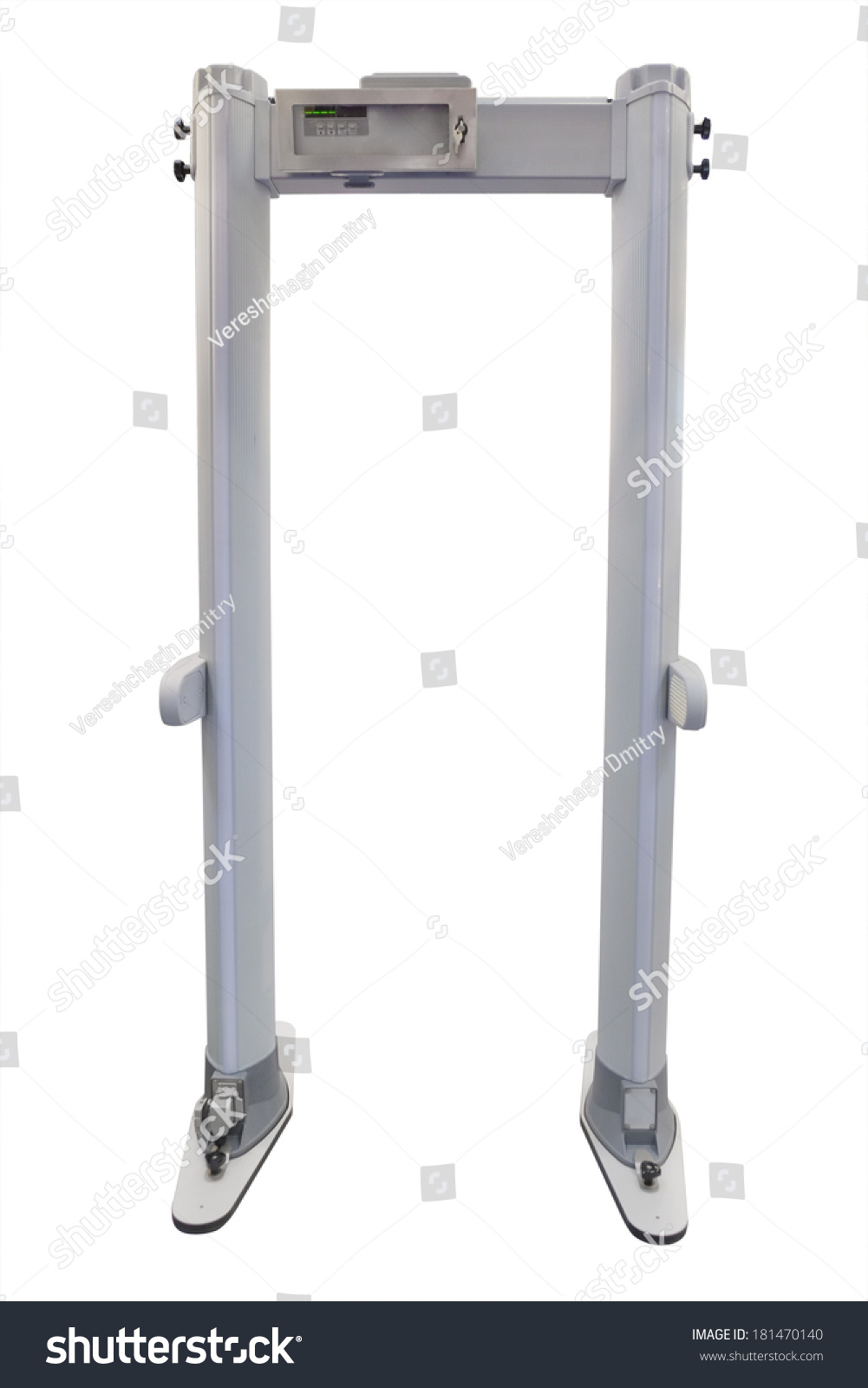 Jew Detector: Metal Detector Under White Background Stock Photo